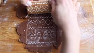 Рецепт шоколадного печенья для скалок с узором