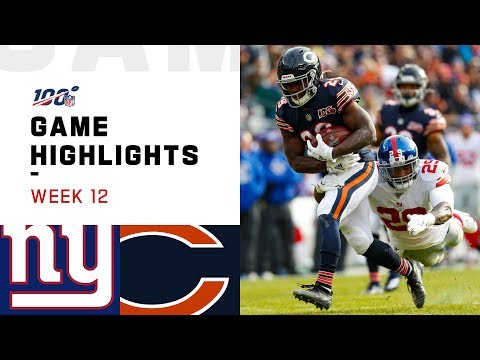 Giants vs. Bears Week 12 Highlights | NFL 2019