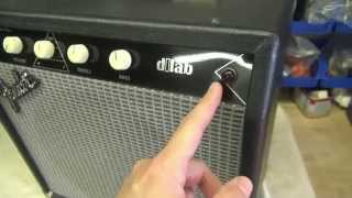 How to convert Fender solid state guitar amp to tube machine by D-lab