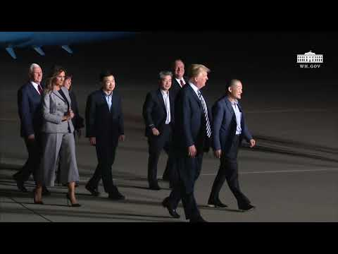 President Trump and Vice President Pence Welcome the Secretary of State and Three American Returnees