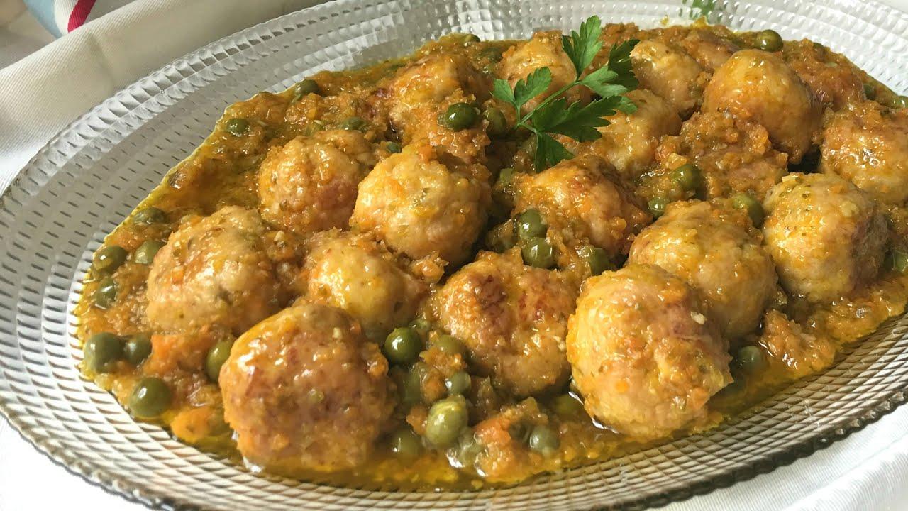 Alb ndigas de pollo con verduras youtube - Albondigas con verduras ...
