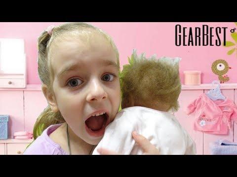 Живая Кукла Реборн Посылка с GEARBEST Reborn распаковка Baby Doll Видео для детей