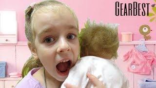 Обложка на видео о Живая Кукла Реборн Посылка с GEARBEST Reborn распаковка Baby Doll Видео для детей