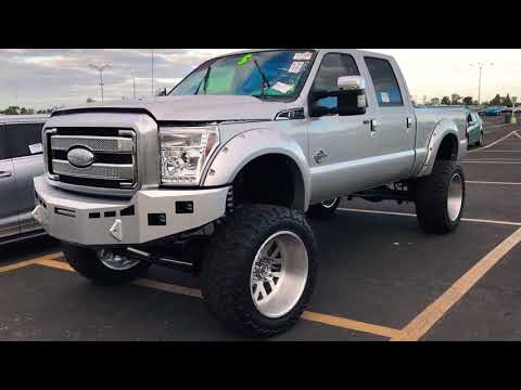 2016 Ford F-250 lifted 10 inches by fabtech dirt logic coil overs 24x14 American forces 40inch tires