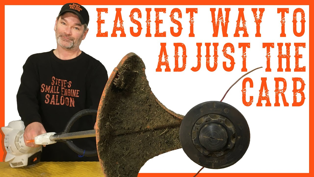 How to Adjust or Tune the Carburetor on a Weedeater / Grass Trimmer Video