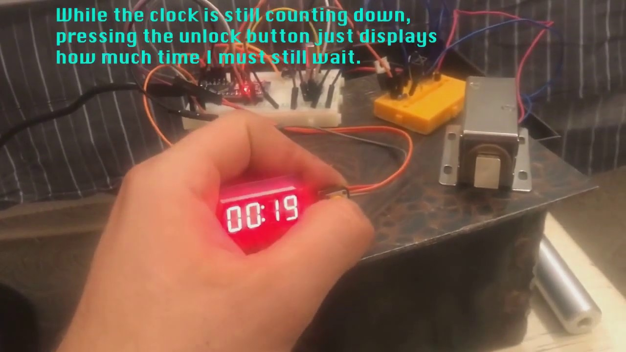 Time Delay Lockbox in action