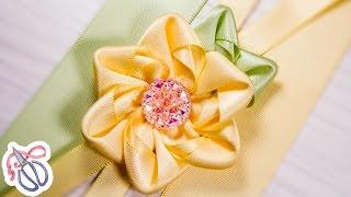 Uma maneira fácil de fazer flor de fita por Kulikova Anastasia