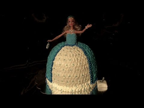 Cinderella Princess Barbie Doll Dress Cake Decorating Tutorial 3 of