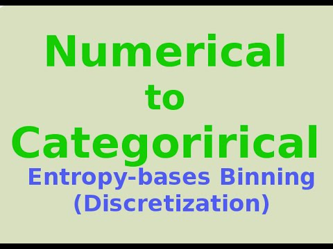 Transforming Numerical To Categorical: Entropy-based Binning