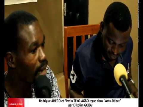 Rodrigue AHEGO et Firmin TEKO-AGBO reçus comme invités dans « Actu-débat » par Elikplim GOKA