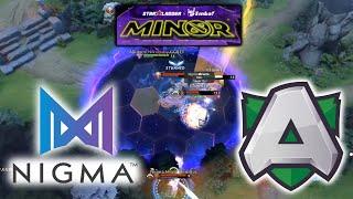 CRAZY FIGHT in GRAND FINAL !! NIGMA vs ALLIANCE - GAME 1&2 StarLadder ImbaTV Minor 2020 EU Quali