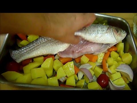 Быстрый рецепт РЫБА в ДУХОВКЕ ЗАПЕЧЕННАЯ с ОВОЩАМИ КЕФАЛЬ рыба