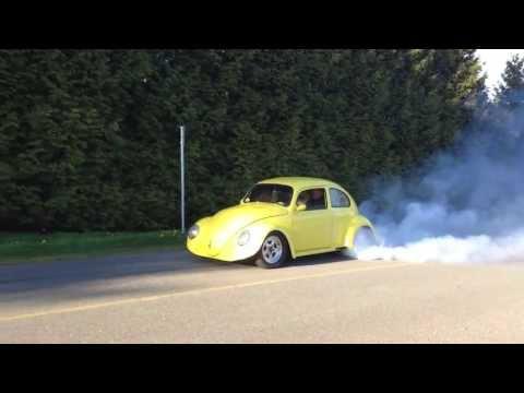 1960 LS1 V8 Powered VW Beetle burn out