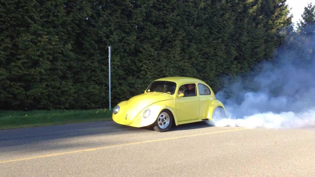 1960 Ls1 V8 Powered Vw Beetle Burn Out Youtube
