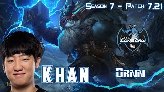 LZ Khan ORNN vs TRUNDLE Top - Patch 7.21 KR Ranked