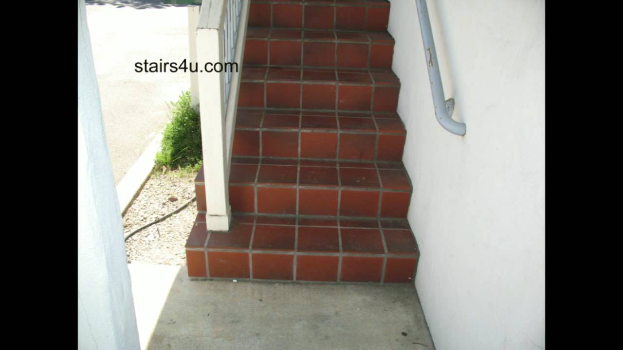 Slippery Tile Stairs   Exterior Stairway Safety   YouTube