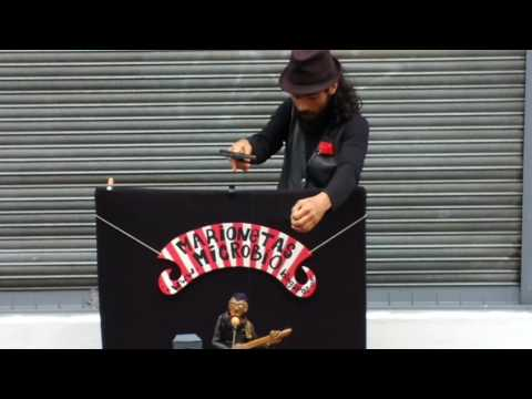 Uruguay (Montevideo) Music-Art-Culture 3 | Street performance | puppet rocking the people