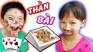 Tony | Thách CHƠI BÀI QUẸT LỌ Siêu Bựa | Children Play Cards