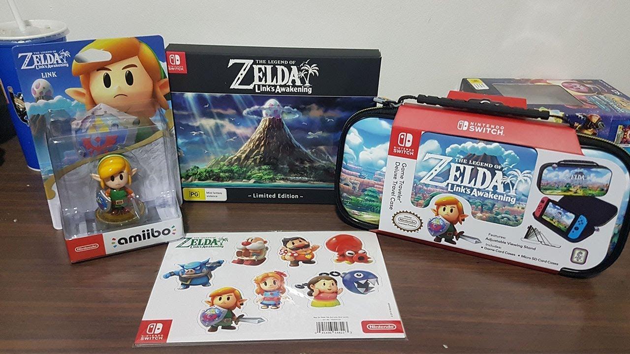 The Legend Of Zelda Link S Awakening Limited Edition Amiibo Carry Case
