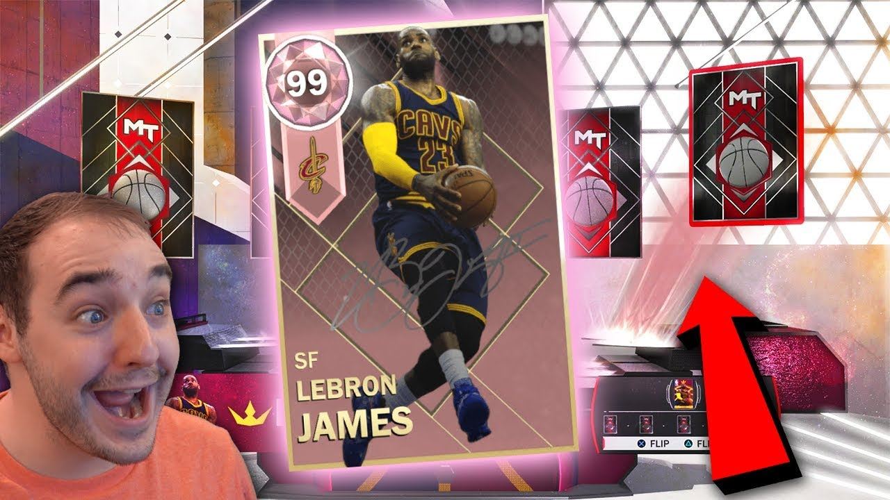 a2771c63eb2b NBA 2K18 My Team WE PULLED PINK DIAMOND LEBRON JAMES ! ! OMG NO FREAKING  WAY! INSANE PACK OPENING!!!