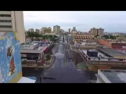 Imágenes aéreas tomadas con un drone durante el paro en Maracaibo