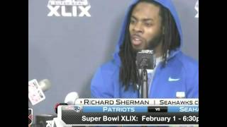 Richard Sherman doesn't answer Preschool questions !