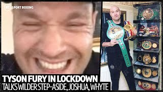 Tyson Fury was asked if he would fight Mike Tyson in an exhibition, Wilder step-aside, Joshua, Whyte