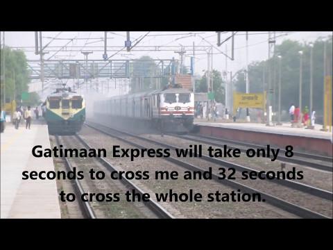 Brutal attack!! India's Top 2  Fastest train Bhopal Shatabdi Vs. Gatimaan Express.