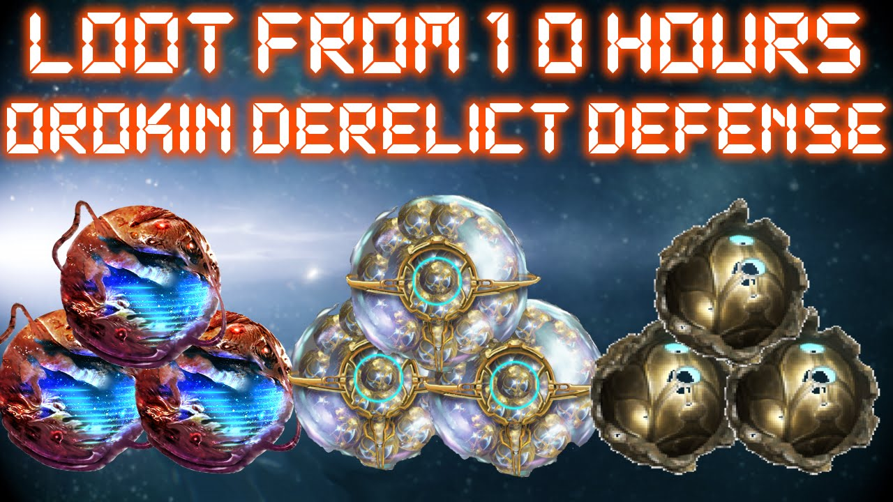 Warframe - Loot From 10 Hours Of Orokin Derelict Defense - YouTube