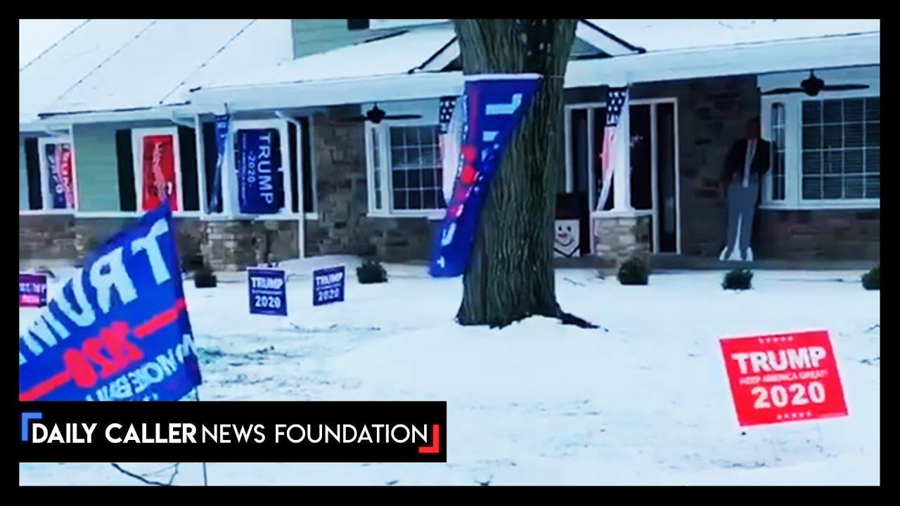 Neighbor Trolls Neighbor with Trump Signs - DC Shorts