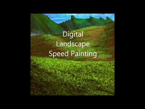 Speed Painting a LANDSCAPE- with Adobe Elements