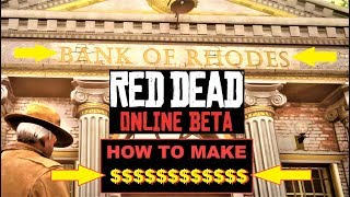 Red Dead Online , How to MAKE MONEY and RANK up , 5 STEPS , get high rank fast