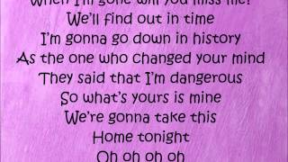The Wanted ft. Dappy - Bring It Home with lyrics