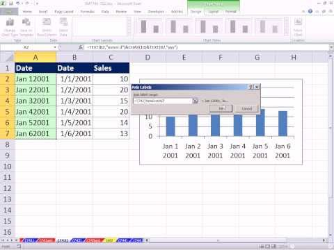 Excel Magic Trick 742: Wrap Text In Chart Label Using CHAR function and  Code 10
