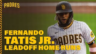 With eight leadoff home runs through august 8, 2020 (first 99 games), fernando tatis jr. ranked second on the padres' all-time list behind only will venable'...