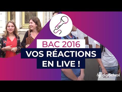 Résultats Bac 2016 : vos réactions en live !