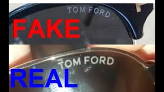 Real vs. Fake Tom Ford sunglasses. How to spot fake Tom Ford