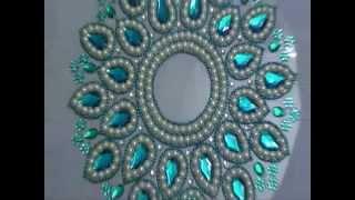 Rangoli with pearls