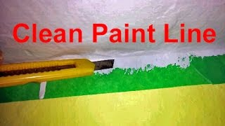 How-to Use Painters Tape And A Box-Cutter To Get A Clean Paint Line Tutorial