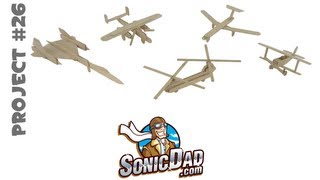 Popsicle Stick Air Force II - SonicDad Project #26