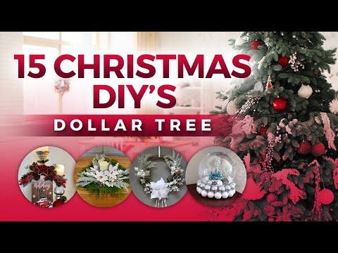 15 Christmas Dollar Tree DIY Ideas/ Easy Christmas Decorations/2020🎄☃️