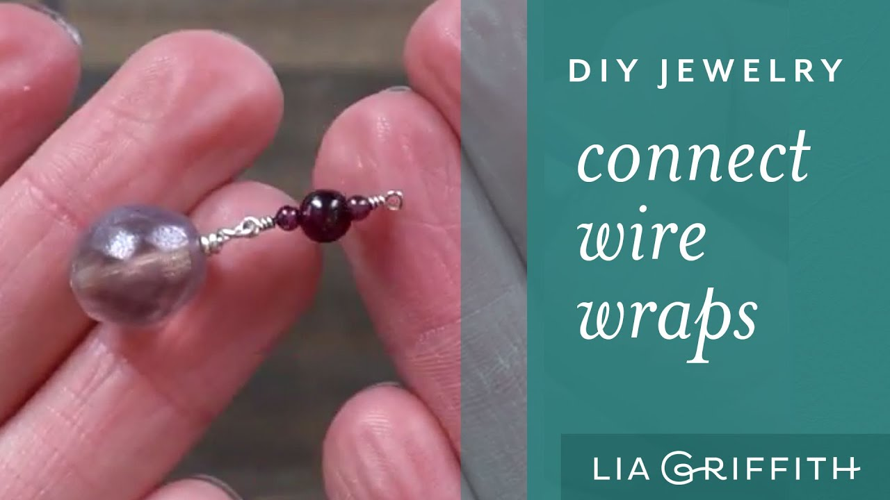 How To Make Wire Jewelry: Connecting wire wraps - YouTube