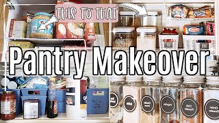 SMALL PANTRY MAKEOVER 2021 :: ORGANIZING IDEAS ON A BUDGET :: RUSTIC MAKEOVER | EPISODE 3