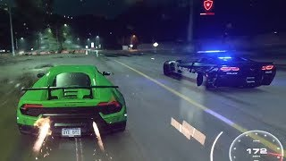 Need For Speed Heat - Cop Chase Heat Level 5 Escape - Lamborghini Huracan Performante
