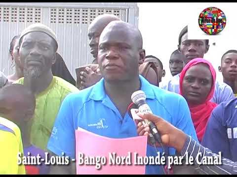 Saint Louis du Sénégal   Bango Nord Inondé par le Canal