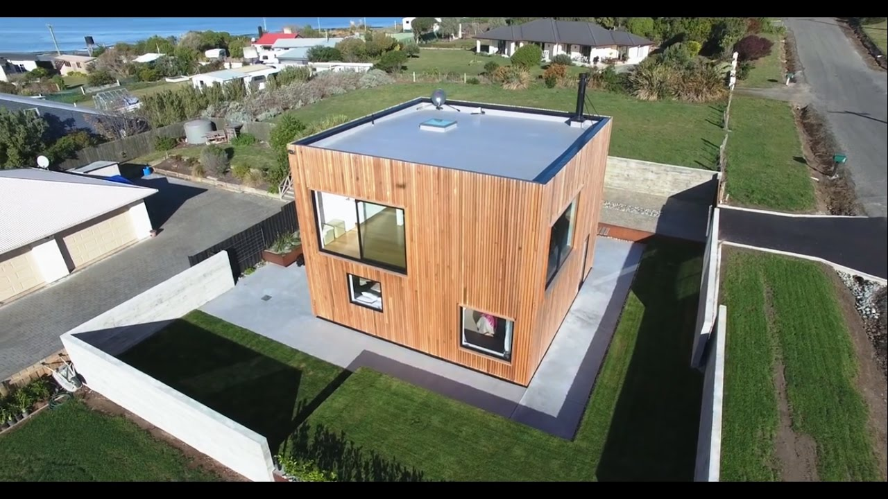 Modern cube shaped house architecture design idea youtube for Modern cube house plans