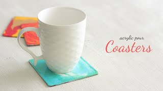 Acrylic Pour Coasters |  Acrylic Painting Tutorial | Easy Acrylic Painting