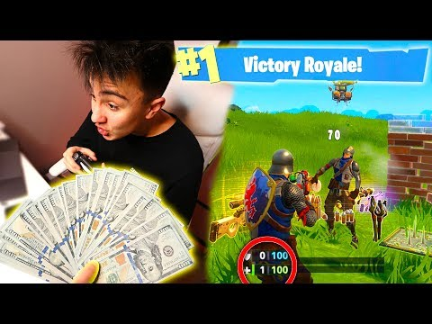 Giving My Friend $1000 For Every Victory Royale in Fortnite: Battle Royale | David Vlas