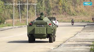 Myanmar coup  Heavy military presence in the capital