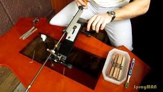 Быстрая заточка китай-ножа на Hapstone PRO в бритву.(В данном видео будет показан процесс скорой заточки дешёвого ножа до состояния бритья и свободного реза..., 2014-10-19T13:06:33.000Z)